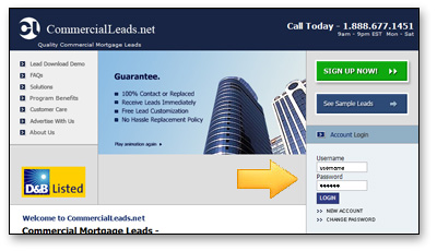 CommercialLeads.net - Site Demo